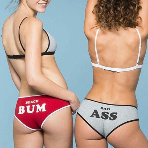Frauen Brief drucken Dessous Baumwolle Briefs Sport Unterwäsche Unterhose #Hot