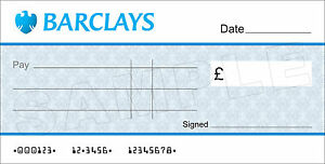 large blank barclays bank cheque for charity / presentation | ebay, Powerpoint templates