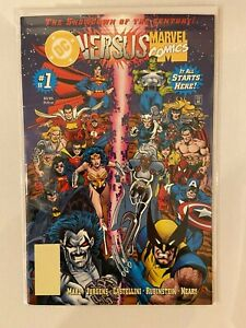 Marvel vs DC #1, #3, #4 Newsstand and Blank Barcode Variants VHTF 3 book lot