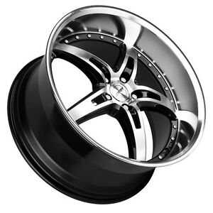 Mrr Gt5 19x8 5 19x9 5 5x120 7 Black Wheels Rims Set Of 4