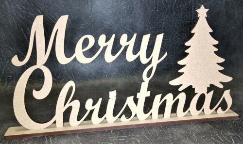 Merry Chritsmas cita Mdf Craft forma Modelo Decoración de Navidad