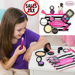 88c7c4ed7 Image is loading Little-Cosmetics-Kit-Pretend-Play-Makeup-Set-Girls-