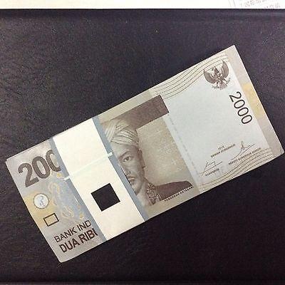 1//10 Bundle P-148a UNC 2009 Indonesia 2000 2,000 Rupiah Lot 10 PCS