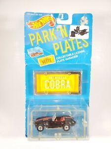 1988-Hot-Wheels-Park-039-N-Plates-Cobra-Black-Red-1-64-Scale-Diecast-NEW-NOC