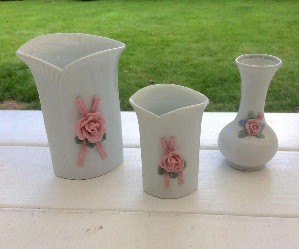 Porcelæn, 3 vaser
