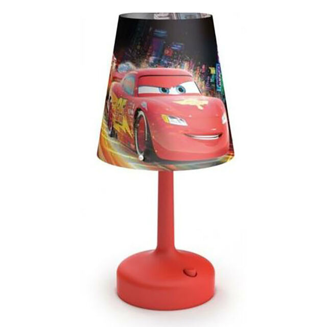 Philips Disney Cars Red Indoor Battery Portable 10 Kids Led Table Lamp Save 2
