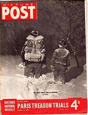 PICTURE POST (13 January 1945) - PARIS TREASON TRIALS - TOBIAS MATTHAY'S  MUSIC
