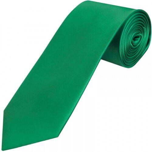 Handmade Plain vert émeraude satin Classique Homme Cravate Mariage Cravate Regular Prom Tie