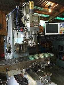 Used Milling Machines Ebay >> Details About Atrump B6fc 3 Axis Cnc Bed Mill New Centroid M400 Cnc Milling Machine