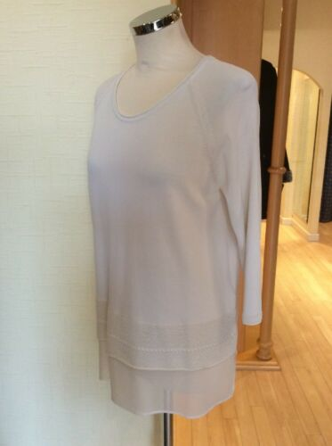 Bnwt Riani Rrp 14 Knit Now Cream £67 Size Top Fine £149 ZwwnqAt1