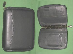 """Alert Pocket ~ 1.0"""" ~ Black Leather Franklin Covey Planner Binder Space Maker Pda Cell At All Costs Office Office Supplies"""