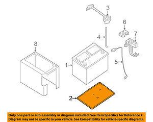 nissan oem battery tray 2442856l00 ebay rh ebay com