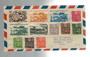 1949 St Pierre Miquelon airmail cover to Houston Texas USA