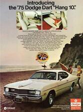 Old Print. White 1975 Dodge Dart Hang 10 Auto Ad