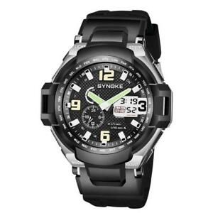SYNOKE-Men-Sport-Watch-Dual-Display-Analog-Digital-LED-Electronic-Wrist-Watches