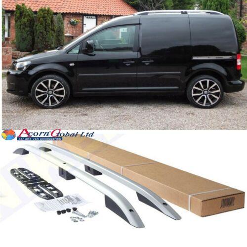VW CADDY Aluminium Roof Bars Roof Rails Set SILVER 2004-2010 OLD SHAPE