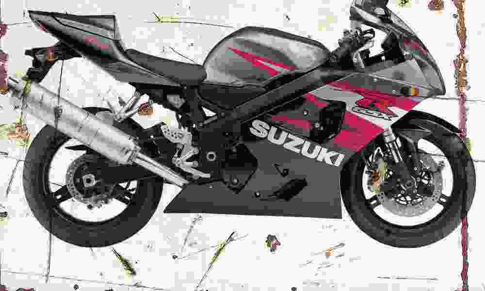 Suzuki GSX R750 R750 R750 2004 Envejecido Vintage sign A3 Grande Retro 53bf53