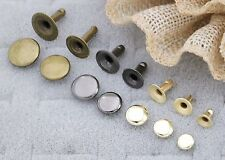 Rivets, Round,Single-Sided ,capped, tubular steel CHOOSE SIZE,COLOR & QUANTITIES