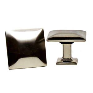 Square Knobs Handles Pulls Kitchen Cabinet Hardware in Brushed Nickel ZC5870