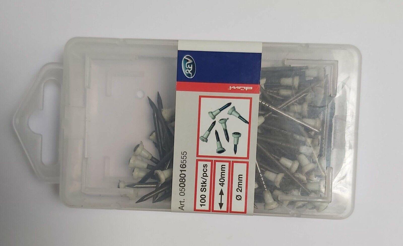 Stegleitungs-Stahlnagel 16mm Ø 2mm 100 Stück Stegleitungsnägel Nagel aus Stahl
