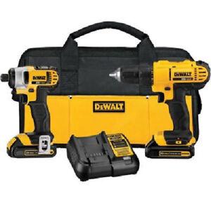 DEWALT-20V-MAX-Li-Ion-Drill-Driver-amp-Impact-Driver-Combo-Kit-DCK240C2-Recon