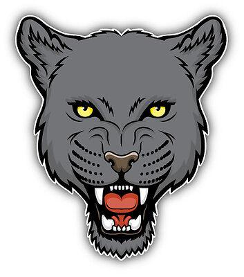 Balck Panther Head Mascot Car Bumper Sticker Decal /'/'SIZES/'/'