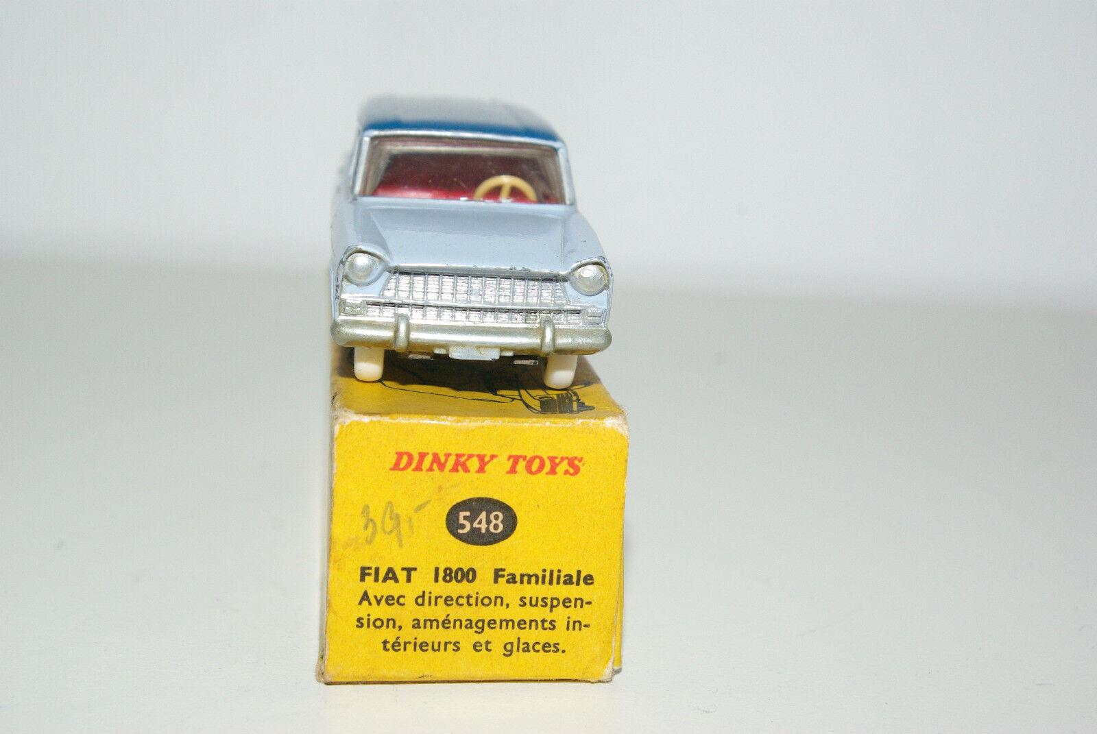 DINKY TOYS 548 FIAT 1800 FAMILIALE blueE TWOTONE NEAR NEAR NEAR MINT BOXED RARE SELTEN  436eec