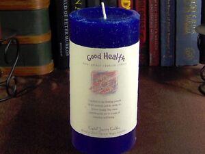Crystal-Journey-3-034-x-6-034-Pillar-Candle-GOOD-HEALTH-CDL18b