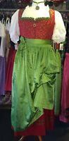langes Dirndl, klassisch, rot, grün, Rose, Gr. 48