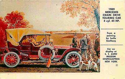 Postcard Rendering of 1909 Mercedes Touring Car - Long ...
