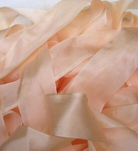 "36MM 100/% PURE SILK  RIBBON 1 1//2/"" WIDE ~ PEACHY//PINK ~COLOR ~ 20 YRDS"