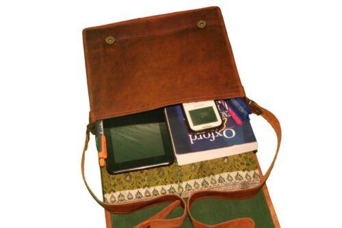 Men/'s Leather  Business Messenger Laptop Shoulder Briefcase Brown Bag