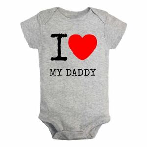 098f8233e79f I Love My Daddy Newborn Jumpsuit Baby Summer Romper Bodysuit Clothes ...