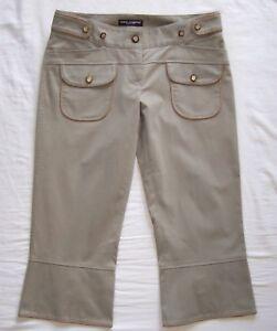 40 4 Gabbana Tan Cotton Dolce Cropped Bukser 4nHxZ8zq4w
