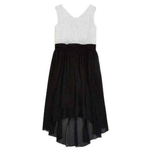 c7aaa01ebaa Speechless Girls  7 White silver Lace High-low Dress for sale online ...