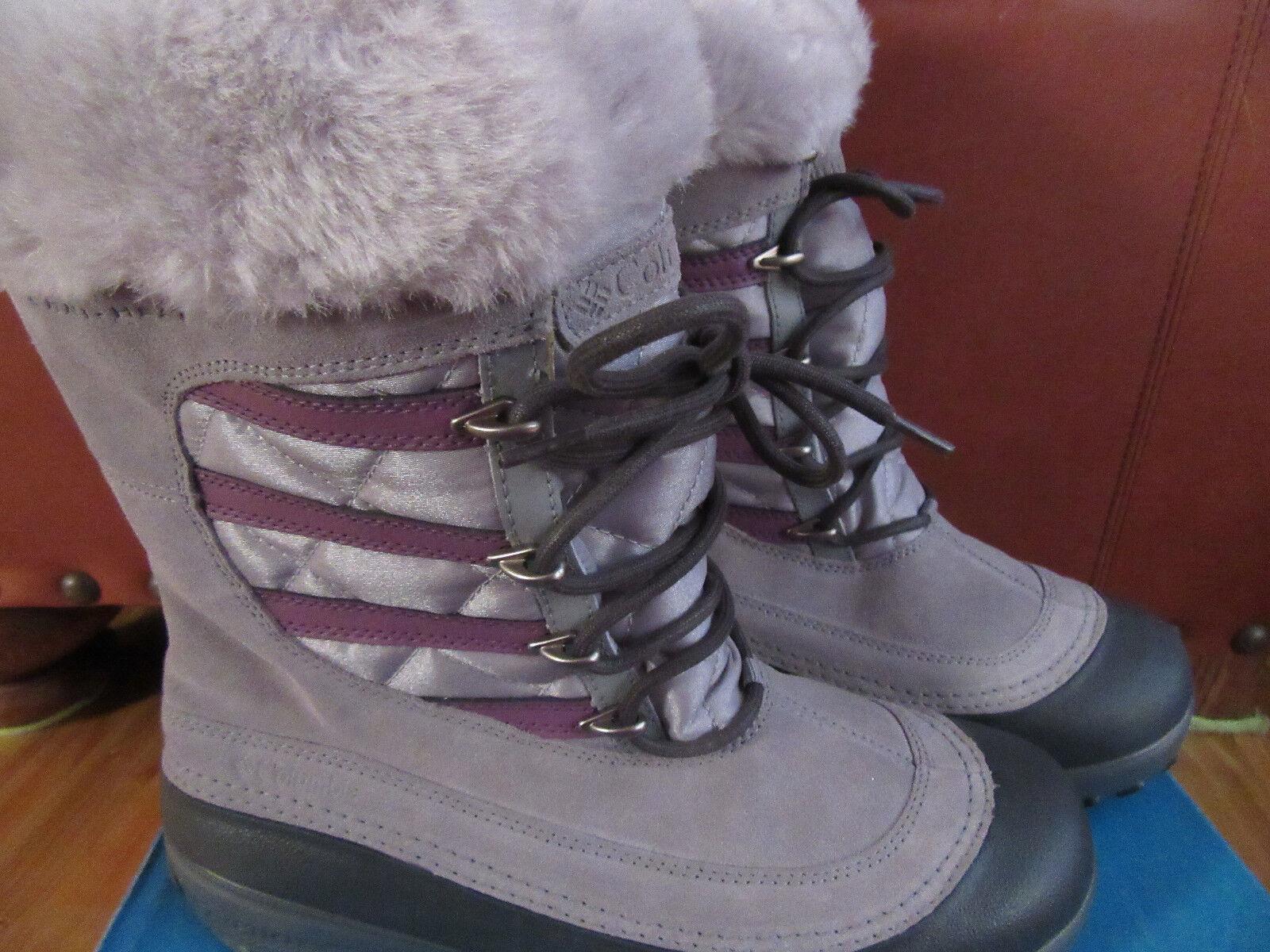 Columbia Slopeside Womens 9 Omni Heat Gray/Berry -25 Winter Boots Cute !!NIB