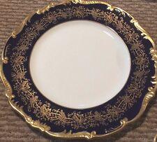 COALPORT HAZELTON Porcelain Cobalt Blue & Gold Salad Plate  RARE