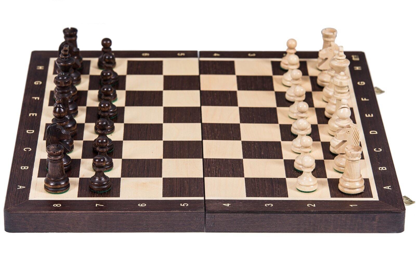 SQUARE - Schach Schachspiel Nr 4 - WENGE - Schachbrett & Schachfiguren Holz