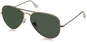 2de7c2355d Ray-Ban Aviator Classic Sunglasses RB3025 001 58 62-14 Green Classic G-15