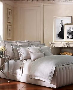 Ralph Lauren Home Fleur Du Roi Gray Silver Floral King Pillow Sham