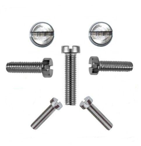 Zylinderschrauben mit Schlitz 6 mm DIN 84 M 6 x 50 V2A Profi Qualität 50 Stk