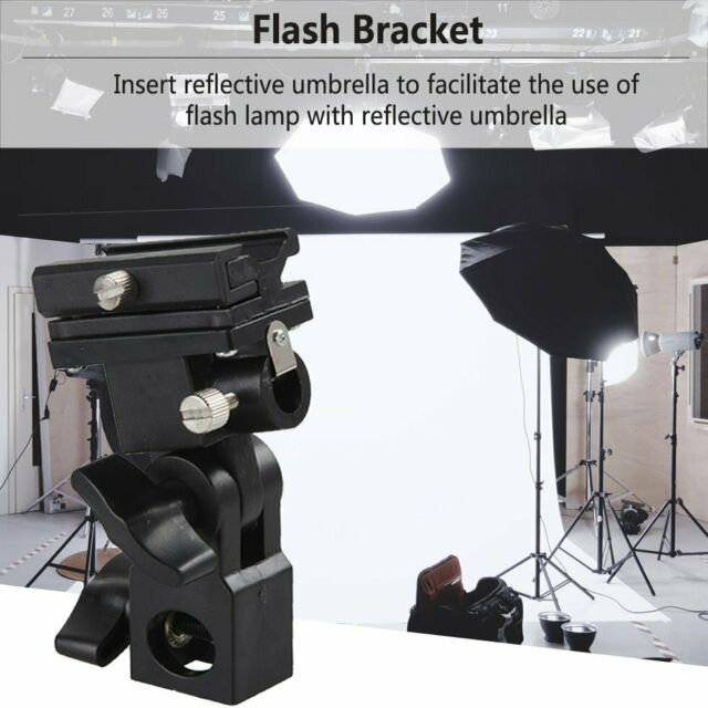 Umbrella Holder Flash Hot Shoe Light Bracket Stand For Studio Light Type B GN