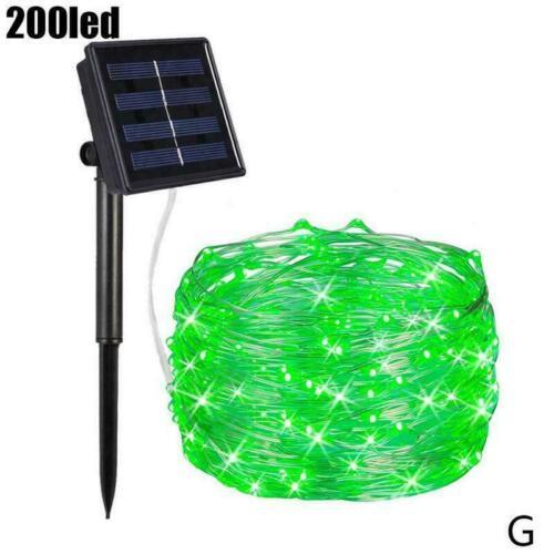 200 LED Solar Fairy String Lights Outdoor /&Garden Waterproof HOT Wire F0J3