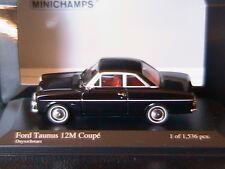 FORD TAUNUS 12M COUPE 1962 ONYXSCHWARZ MINICHAMPS 400086121 1/43 BLACK NOIR