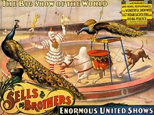 ADVERTISING CULTURAL CIRCUS SELLS BROTHERS ANIMAL ACROBAT ART POSTER PRINT LV640