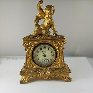 Antique clock made by Jennings brothers, for parts or restore ! rare clock