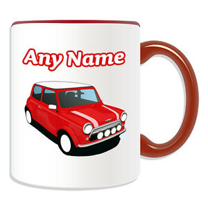 Personalised Gift Red Mini Cooper Mug Money Box Cup Driver Car BMW ...
