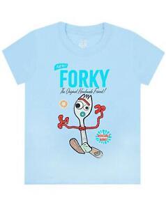 Disney-Pixar-Toy-Story-Forky-Boy-039-s-Blue-T-Shirt-Movie-Kids-Short-Sleeve-Tee