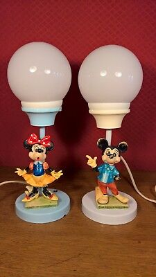 Lampes de chevet Walt Disney Production, Mickey, Minnie, Années 70, vintage | eBay