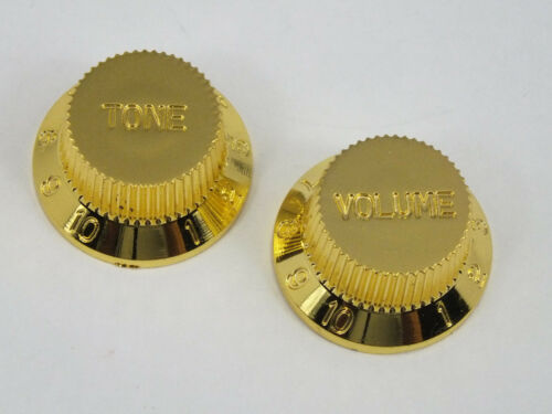 Gold Lautstärke /& Ton Knöpfe für 5.9mm Welle Töpfe passend für